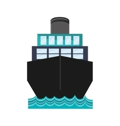 ship boat transportation design vector image vector image