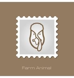 Turkey stamp Animal head vector image vector image