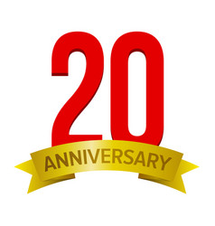 20 years anniversary icon vector image