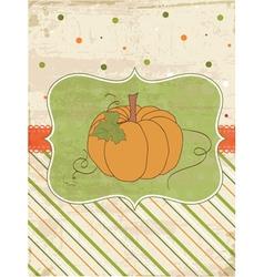 Autumn pumpkin card vector