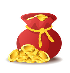 bag of gold vector image vector image