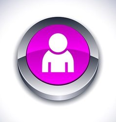 Person 3d button vector image