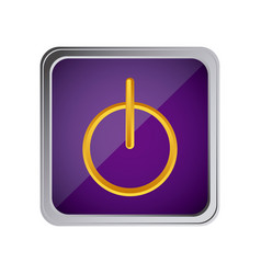 power button icon with background purple vector image