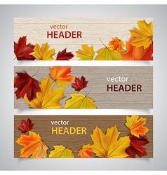 autumn headers vector image vector image