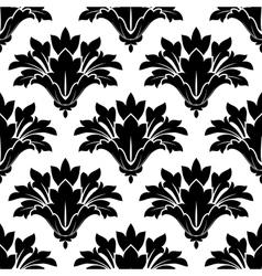 Black arabesque floral seamless pattern vector image