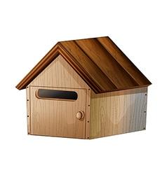 A wooden mailbox vector