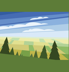 abstract polygonal green landscape vector image