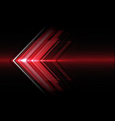 Abstract red arrow light direction speed on black vector