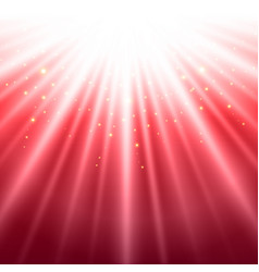 Abstract red shining light top magic vector