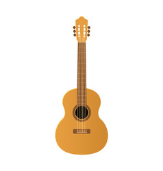 acoustic guitar on white vector image
