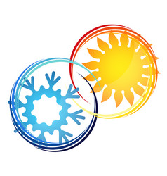 air conditioner temperature symbol vector image