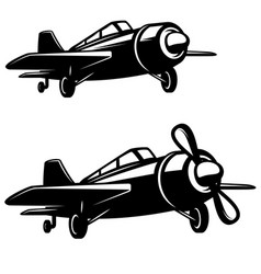 Airplane icon on white background design element vector
