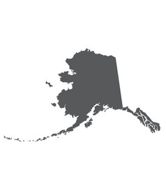 Alaska map silhouette - outline of state vector