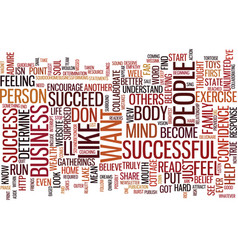 Are you successful text background word cloud vector