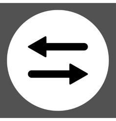 Arrows Exchange Horizontal flat black and white vector