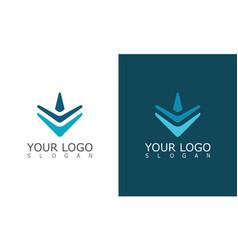 arrrow techology logo vector image