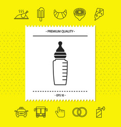 Baby feeding bottle icon graphic elements for vector
