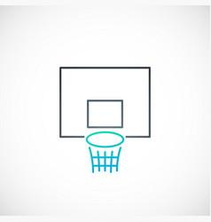 Basketball emblem basketball hoop icon in simple vector