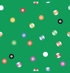 Billiard balls seamless pattern vector