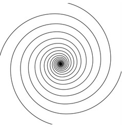 black on white swirl spiral vector image