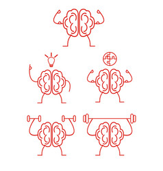 brain power training vector image