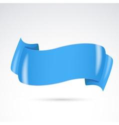 Bright blue badge stripe or sign design vector image