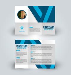 Brochure mock up design template tri-fold vector