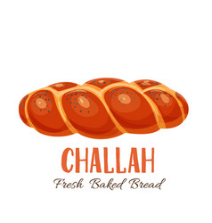 Challah bread icon vector