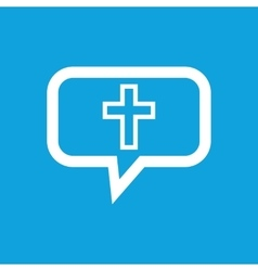 Christian cross message icon vector image vector image