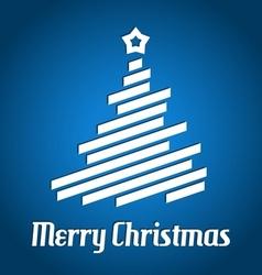 Christmas tree from stripes - modern christmas vector image vector image