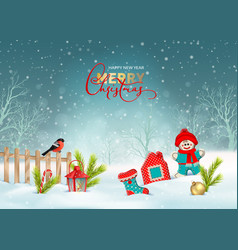 Christmas winter scene vector