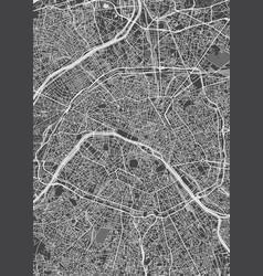 City map paris monochrome detailed plan vector