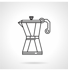 Coffee pot black line icon vector