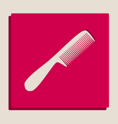 comb simple sign grayscale version of vector image