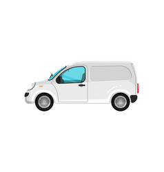 Commercial cargo minivan isolated icon vector