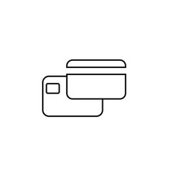 credit card icon black on white background vector image