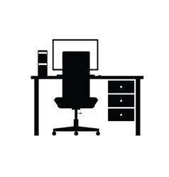 desktop computer office vector image