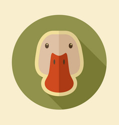 Duck flat icon animal head vector