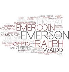 Emercoin word cloud concept vector