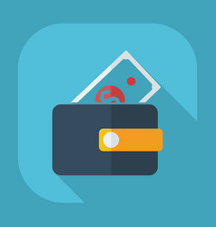 Flat modern design with shadow wallet vector