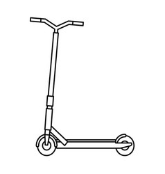 Folding scooter isolated icon vector