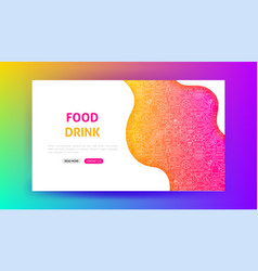food drink landing page vector image