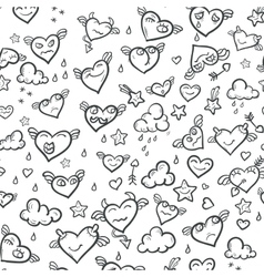 Funny Valentine Hearts vector image