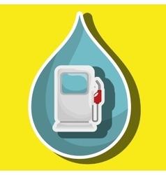Gasoline dispenser isolated icon design vector