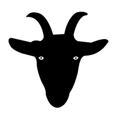 Goat face silhouette icon eps vector