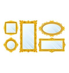 gold miorror set vector image