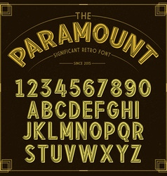 Golden Retro Font vector