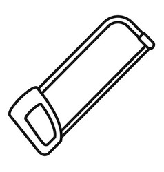 hacksaw icon outline style vector image