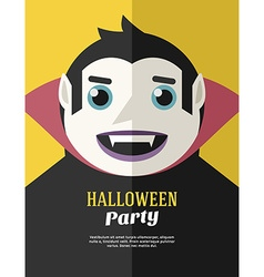Halloween Party Flyer or Poster Template Flat vector