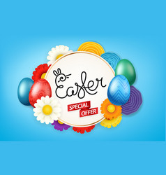 happy easter banner special offer vector image